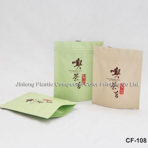 Qingdao Tea Bag in Matte Finishing with Zipper pictures & photos