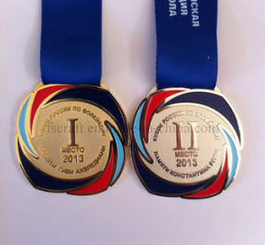Enamel Metal Medals with Ribbon