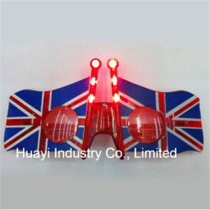 4246f9853c4 China LED Light up American Flag Shaped Sunglasses - China ...