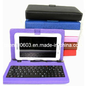 "Leather Keyboard Case USB Hold Cover for 7"" 8""10"" Inch Tablet PC (OT-13)"