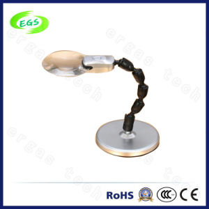 Optical Glass Magnifying Table Desktop LED Illumination Inspection Lamp pictures & photos