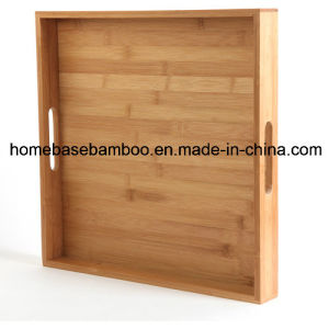 Walmart Bamboo Tea Food Coffee Furit Serving Tray Organizer pictures & photos