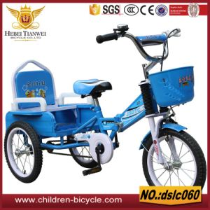 Alloy Rim Two Seat Tricycle for Child pictures & photos