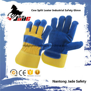 Genuine Industrial Safety Cow Split Leather Work Glove pictures & photos