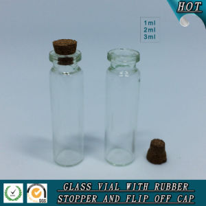 1ml 2ml 3ml Clear Cosmetic Glass Vial with Wooden Lid pictures & photos