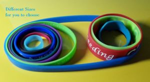 Custom Different Sizes Silicone Wristband with Free Samples and Free Design pictures & photos
