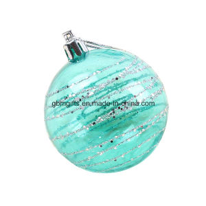 Glass Produce Popular Design Hand Painted Print Christmas Ball