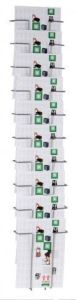 Twinco Wall-Mounted 10-Compartment Literature Display Silver