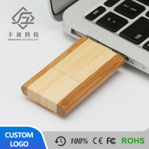 Swivel Maple Oak Walnut Bamboo Wooden USB Flash Drive