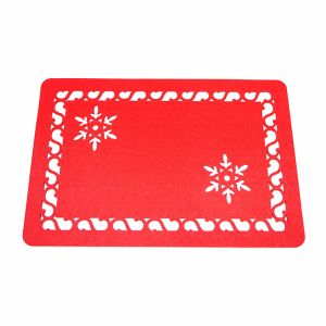 3mm & 5mm 100% Polyester Placemat for Tabletop and Christmas Decorations