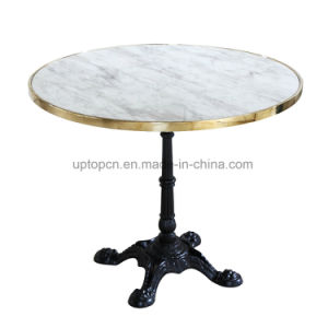 Exceptionnel Round Marble Restaurant Table With Cast Iron Leg (SP RT599)
