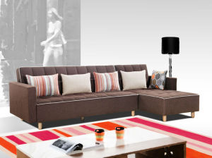 Genial Changeable Armrests And Big Size Fabric Sofa Cum Bed