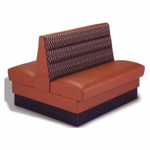 High Grade Fast Food Leather Two Side Booth Sofa For Dining Sp Ks125