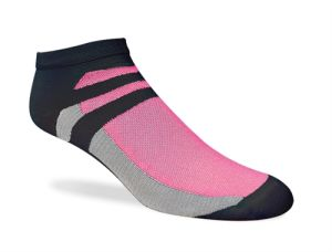 Women Ankle Sports Socks with Microfiber Nylon and Spandex (mm-08)