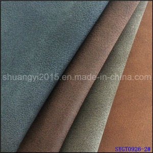 PU Material for Shoes Yangbuck Shoes Leather Old Times Style pictures & photos