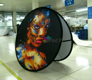 Outdoor Spring Steel Popup Circle/Round a-Frame Display Banner