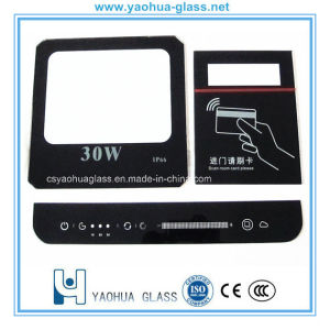 Printing Tempered Sight Glass Panel/Toughened Decorative Glass Panels for Switch/Lamp/LED Light