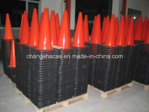 PVC Traffic Road Safety Black Base Cone pictures & photos