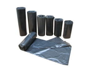 Black Garbage Bag Roll pictures & photos