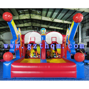 Custom Commercial Inflatable Bounce House with Basketball Hoop/Jumping Castle pictures & photos