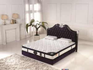 Home Furniture General Use Roll Packed Euro-Top 5-Zone Pocket Spring Bed Mattress pictures & photos