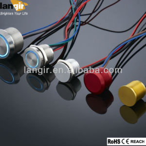 Piezo Switch with High Quality Stainless Steel Diameter 19mm LED pictures & photos