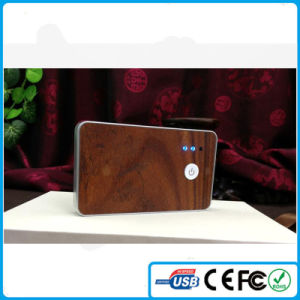 China LED Light 5000mAh Wooden Protable Charger for Mobile