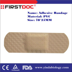 High Quality OEM 78*25mm PVC Material Skin Color Adhesive Bandages pictures & photos