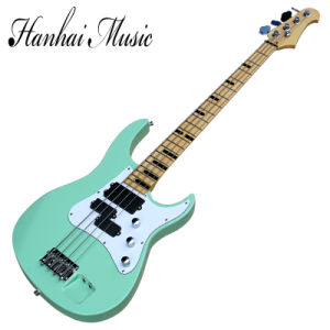 Hanhai Music / 4-String Green Electric Bass Guitar with Black Fret Marks Inlay pictures & photos