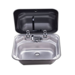 China Stainless Steel Hand Wash Basin RV Caravan Sink with Toughened ...