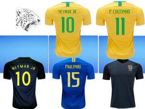 newest cfe68 e19fe Neymar Jr Brasil Soccer Jerseys 2018 World Cup Yellow Blue Brazil Top  Quality Jesus Coutinho Marcelo Firmino Football Shirts Camisa De Futeb