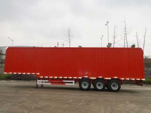 3 Axle Box Cargo Truck Van Semi Trailer for Transprotation