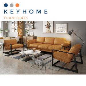 Furniture Yellow Leather Sofa 3 Seater