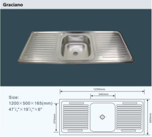 Wholesale Portable Camping Bathroom Hand Wash Stainless Steel Kitchen Sink with Double Drainboard