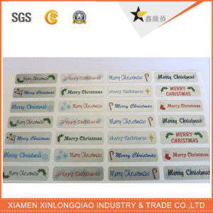 Custom Christmas Paper Self-Adhesive Stickers Label Printing Tag Printed Sticker pictures & photos