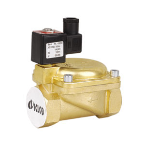 2/2 Way 0927 Series 1-1/2 Inch Brass Body Pilot Operated Normal Closed Water Solenoid Valve