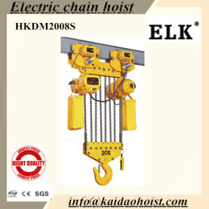20ton Electric Chain Hoist /Clutch Hoist /Single Phase Hoist (HKDM2008S) pictures & photos
