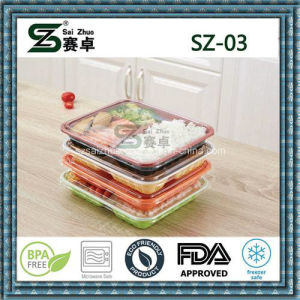 3compartment Disposable Plastic Food Tray, Microwave Safe pictures & photos