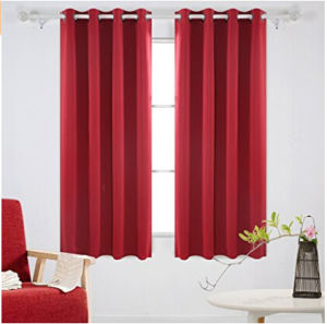 Solid Color Blackout Curtains with Grommet Thermal Inshualted Window Curtains Room Darkening Curtains pictures & photos