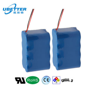 12.8V 3000mAh Rechargeable Lithium-Ion Battery Pack pictures & photos