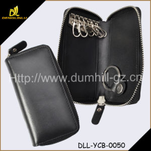 Zip Around Leather Key Wallet
