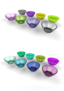 Plastic Salad Bowl with Anti-Slip Ring Injection Bowl