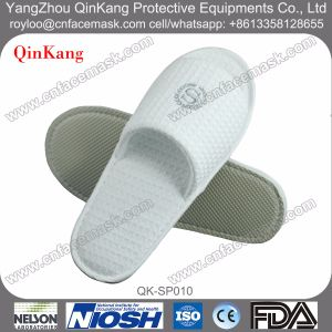 Disposable Hotel Waffle Fabric Indoor Slippers