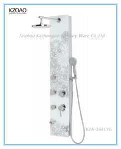 Kza-16417g Flower Painted Glass Shower Panel