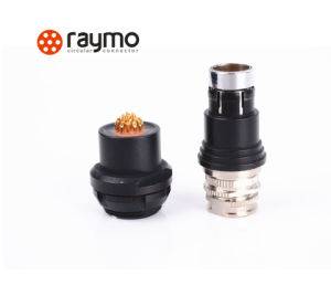 Raymo 103 Series Circular Waterproof Cable Plug Connector with 3 Pin Male Contact pictures & photos