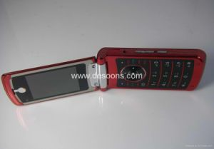 V839 Flip Mobile Phone With TV, Java, Dual SIM Cards