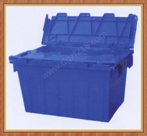 Stacked Plastic Logistic Storage Crate with Lid for Sale