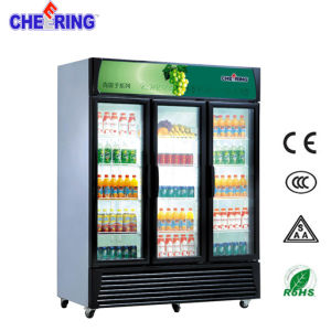 Ce Approved Upright Beverage Drink Display Freezer/Refrigerator pictures & photos