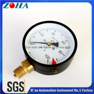 Size 100mm Black Steel Case High Standard General Pressure Gauges with IP53 Protection Grade pictures & photos