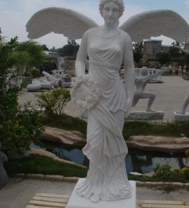White Marble Sculptures (Fairy Lady)